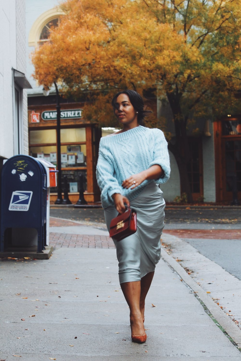 MANGO-cropped-sweater-free-people-normani-satin-skirt-steve-madden-daisie-pumps-chestnut-suede-5.JPG