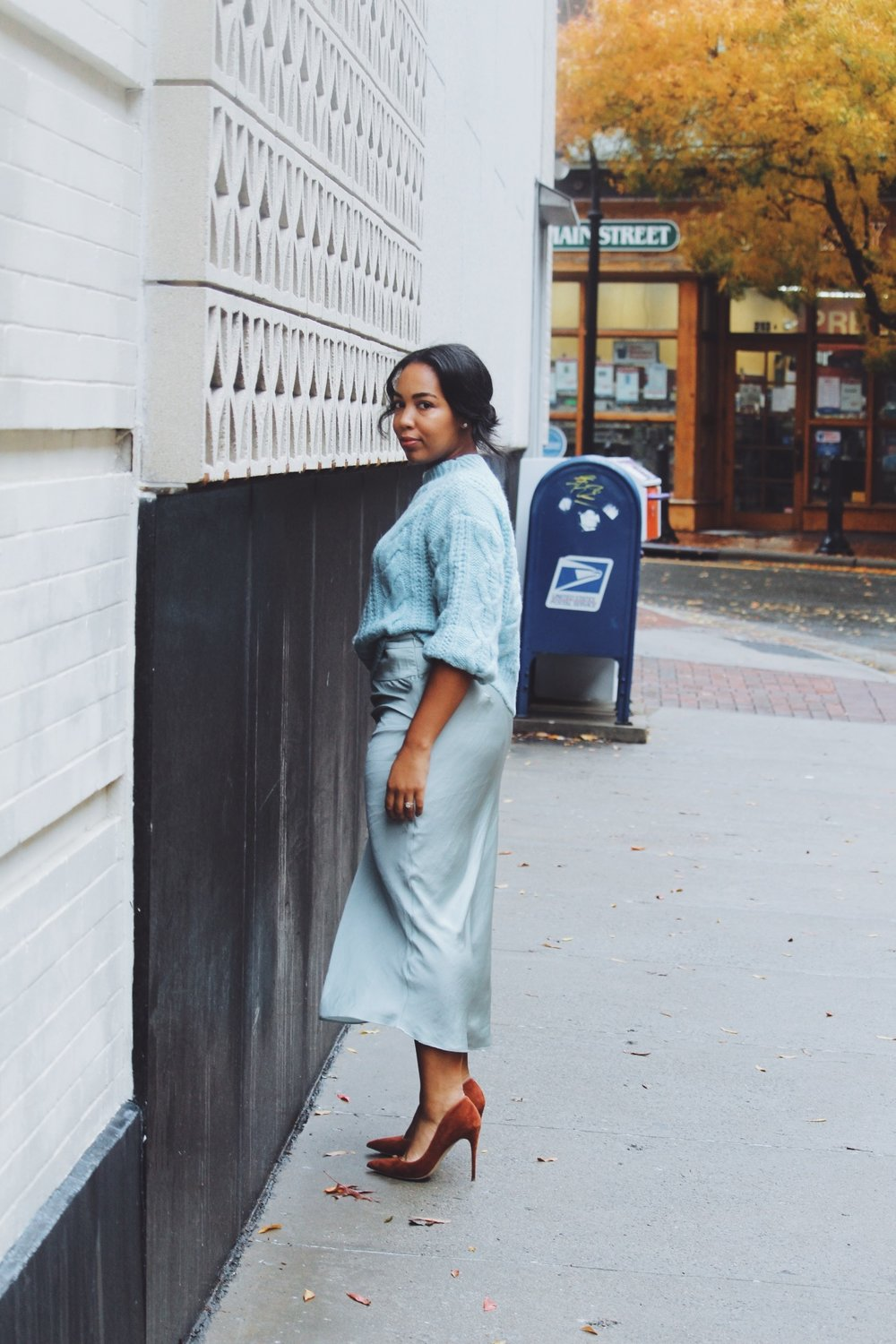 MANGO-cropped-sweater-free-people-normani-satin-skirt-steve-madden-daisie-pumps-chestnut-suede.JPG