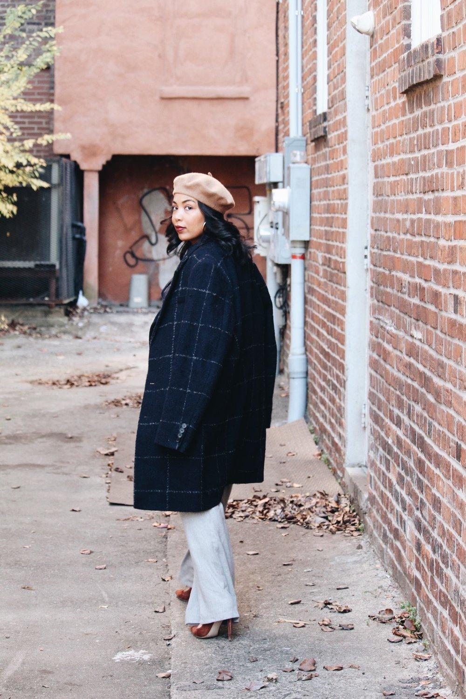 AQAQ-pinstripe coat-beret-asos-mens-check-coat-wide-leg-pant-navy-gray-steve-madden-daisie-5.JPG