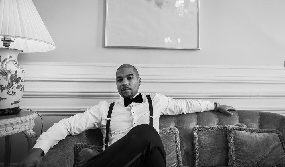 engagement-shoot-destination-paris-the-black-tux-asos-design-sequin-tux-beaded-dress-heart-earrings.JPG