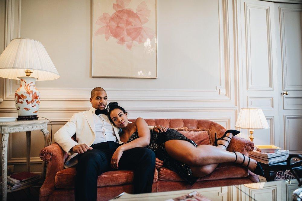 engagement-shoot-destination-paris-the-black-tux-review-asos-design-sequin-tux-beaded-dress-heart-earrings-2.JPG