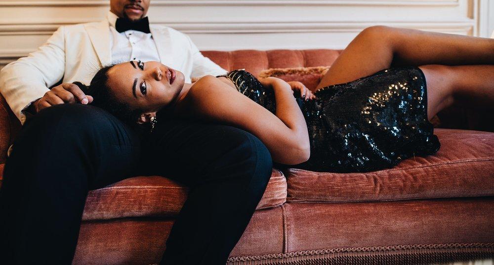 engagement-shoot-destination-paris-the-black-tux-review-asos-design-sequin-tux-beaded-dress-heart-earrings-3.JPG