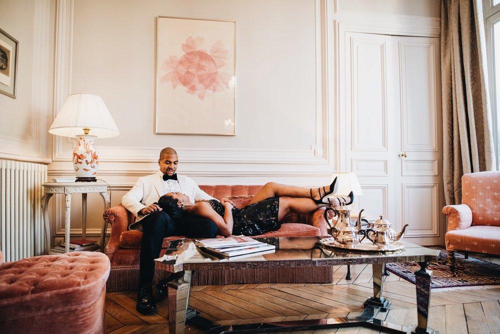 engagement-shoot-destination-paris-the-black-tux-review-asos-design-sequin-tux-beaded-dress-heart-earrings-4.JPG