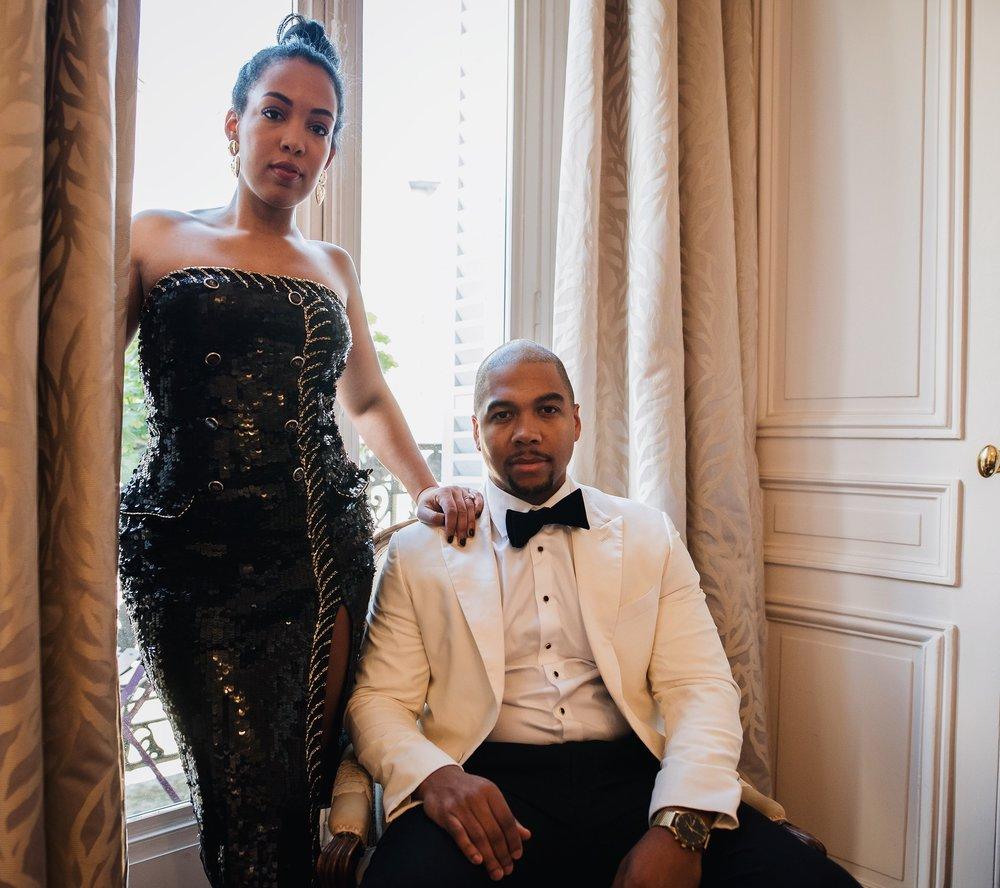 engagement-shoot-destination-paris-the-black-tux-review-asos-design-sequin-tux-beaded-dress-heart-earrings-8.JPG