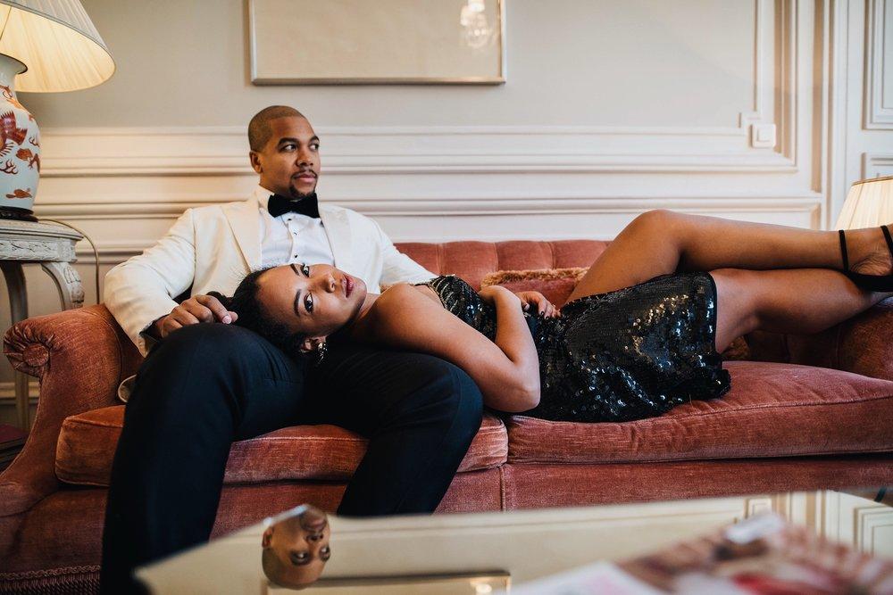 engagement-shoot-destination-paris-the-black-tux-review-asos-design-sequin-tux-beaded-dress-heart-earrings-9.JPG