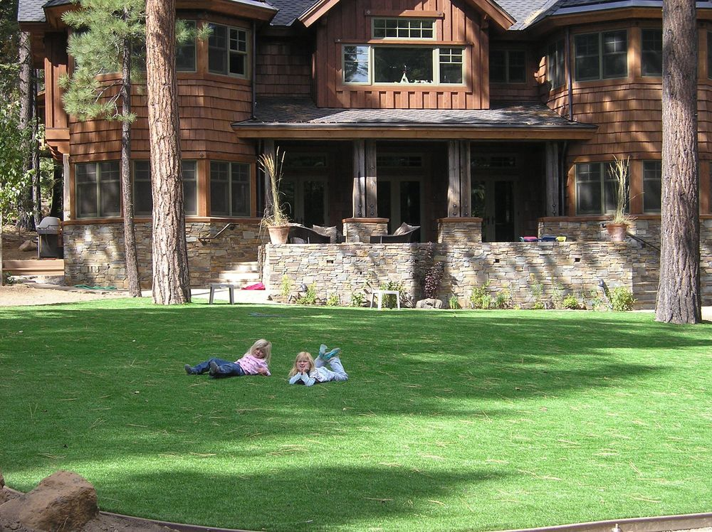 My Daughters, Calli and Indie, on a SYNLawn Installation in North Lake Tahoe, circa 2008.