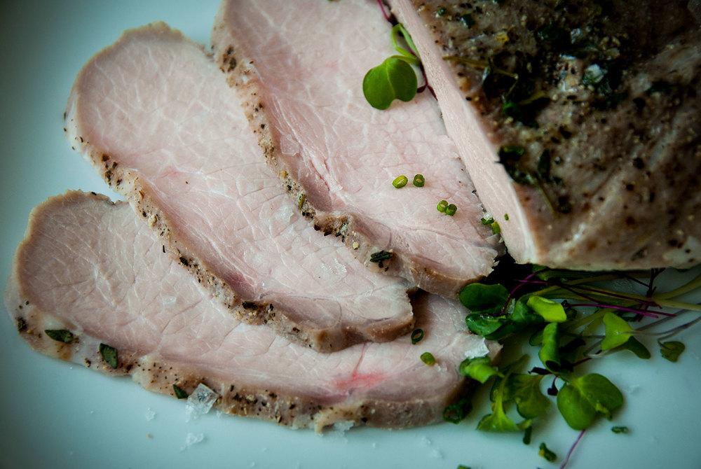 pork loin in a salt crust