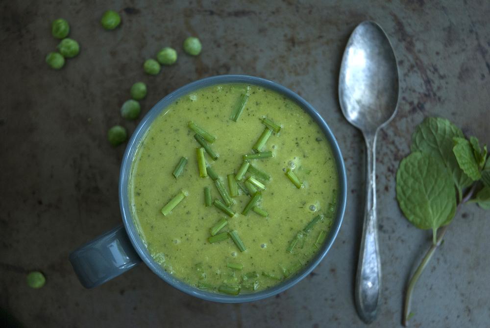 petit pois & mint  soup