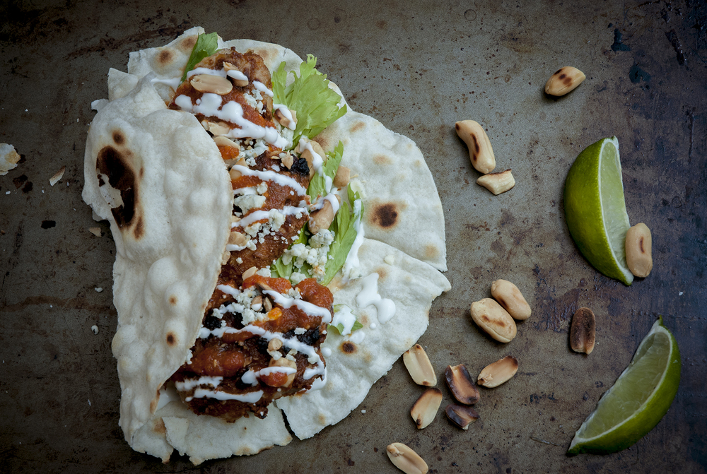 chicken wing tacos
