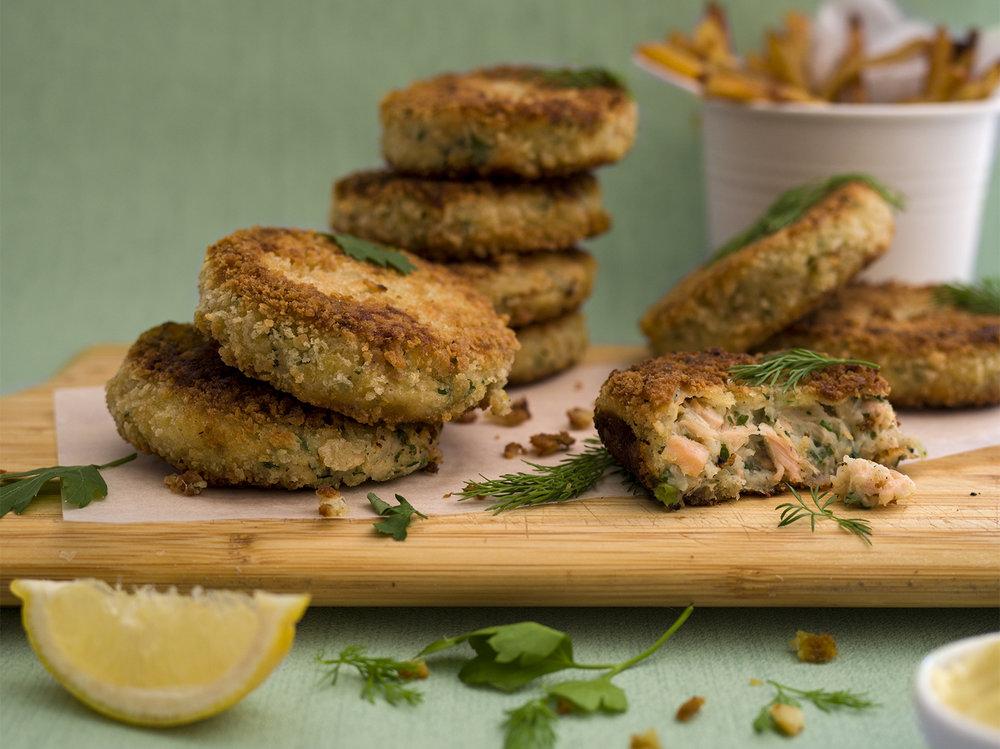 salmon & parsely fishcakes