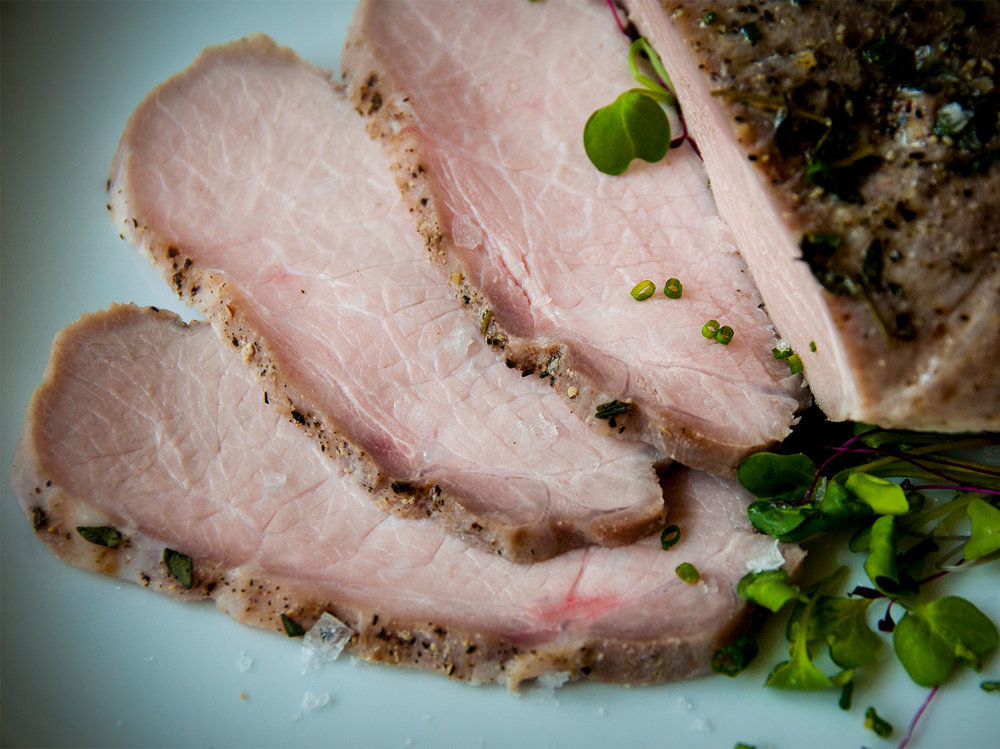 pork loin, baked in a salt & fennel crust