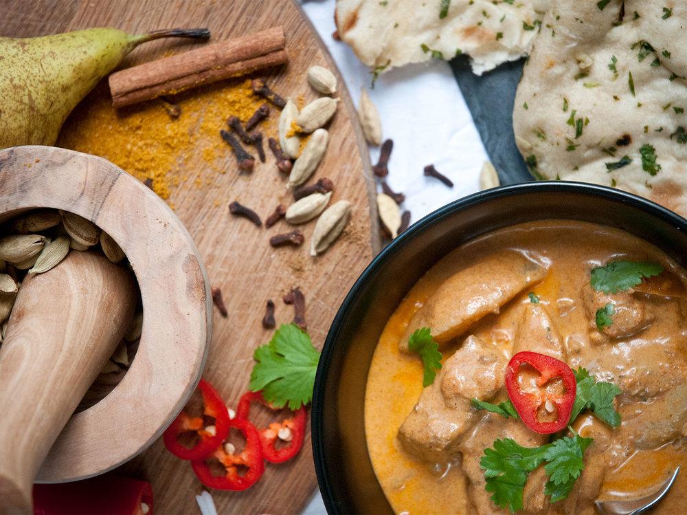 sean's lamb & pear curry