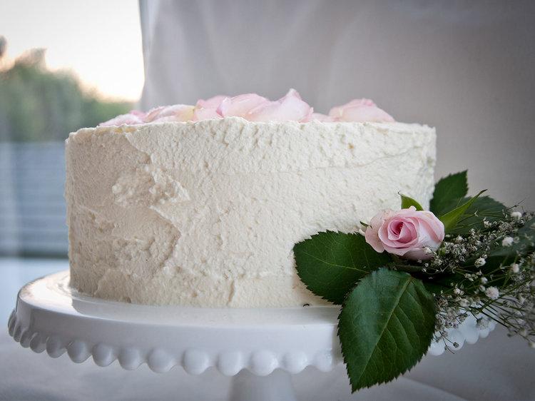 White Almond Cake Write About Love