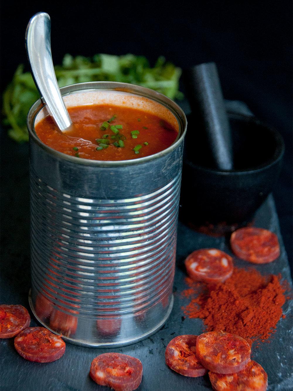 sweet & smokey chorizo soup