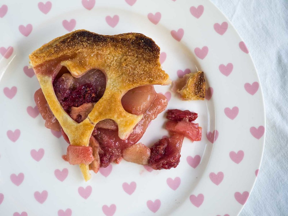 love heart pie