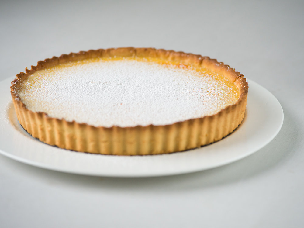 Tart Au Citron | dust with icing sugar and serve