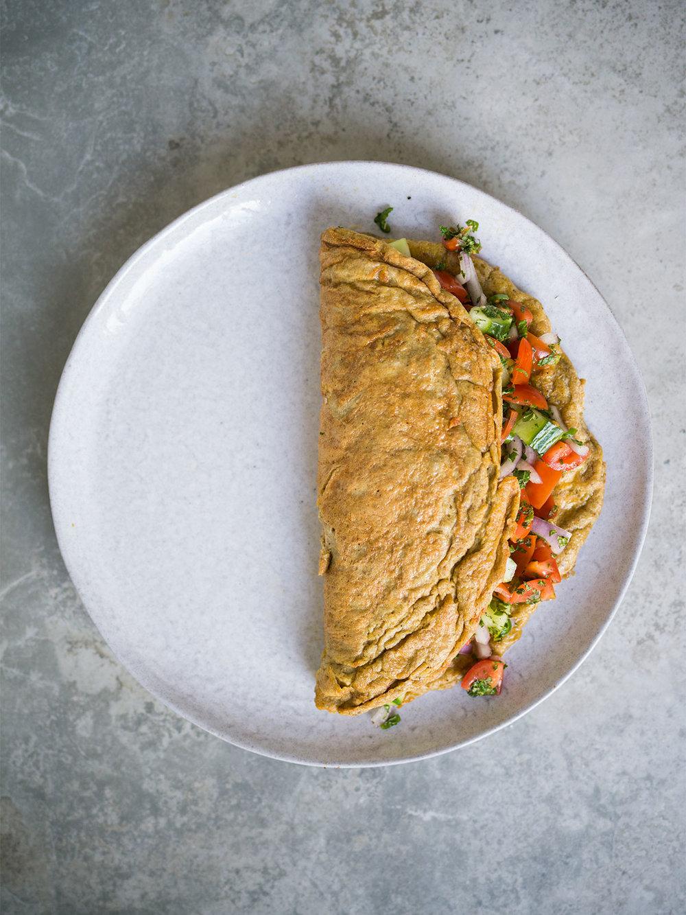 kachumber masala omelette