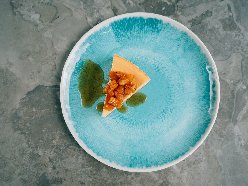 Passionfruit Cheesecake with Spiced Pineapple | a recipe by Yotam Ottolenghi