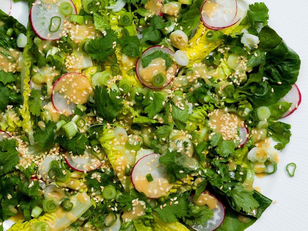 Green Sesame Miso Salad