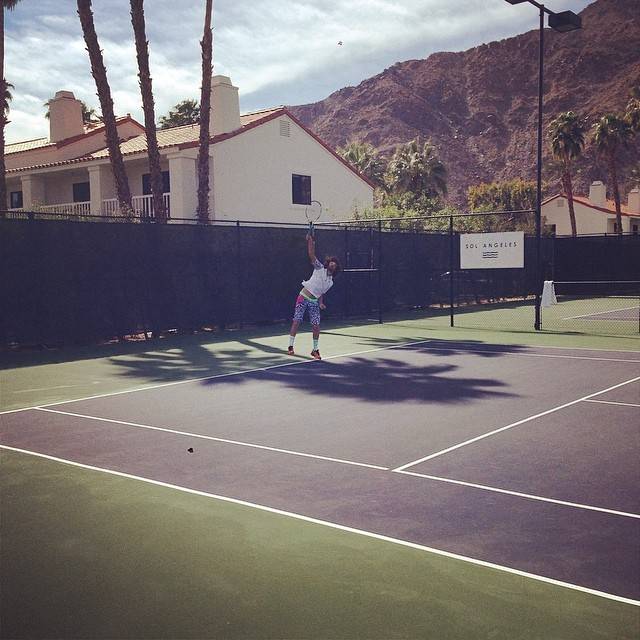 Desert Smash Pro Am tennis with @RedFoo of @LMFAO.