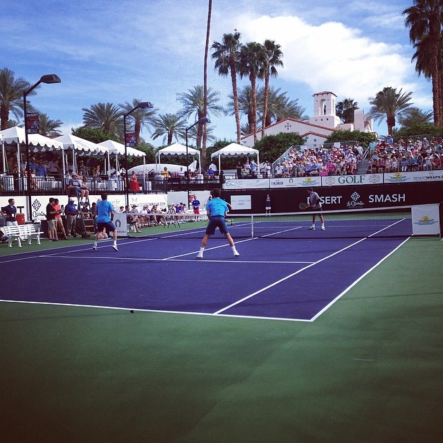 Doubles match with Bryan Bros vs Fernando