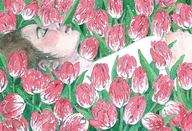 My piece in Bust, about how to prepare for death in advance. #illustration #flowers #bustmagazine #watercolor
