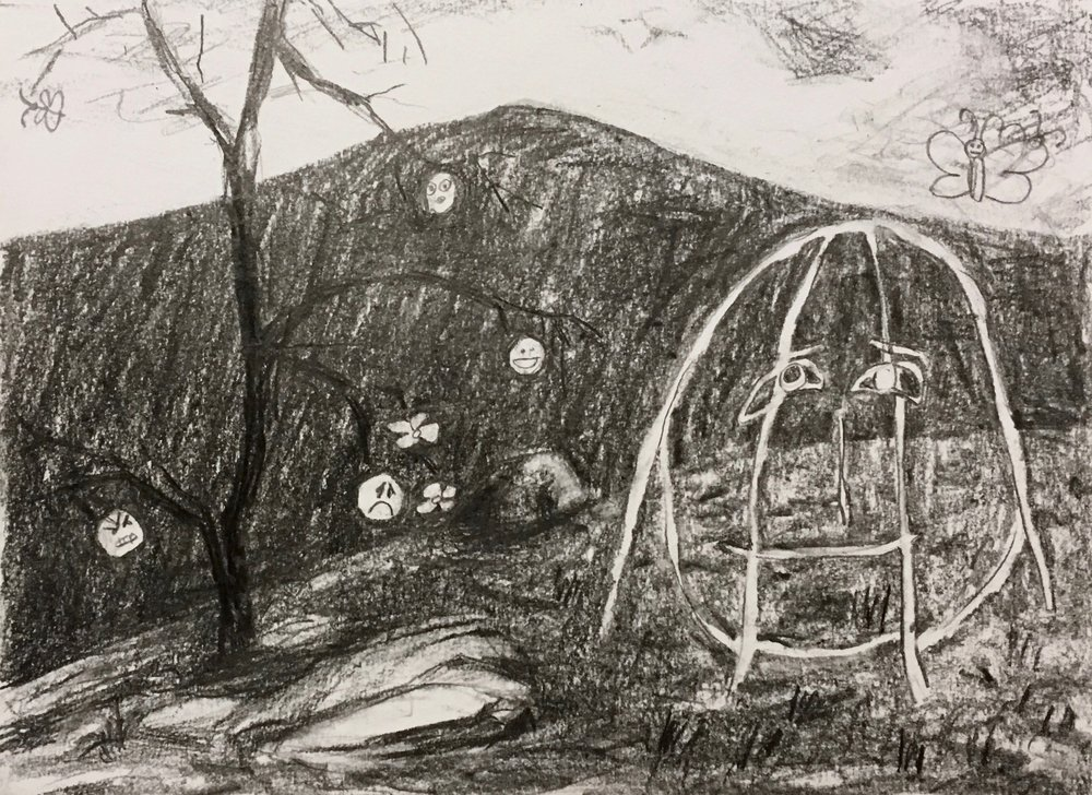"""""""Untitled 9"""", 9""""x12"""", Graphite on paper, 2018"""