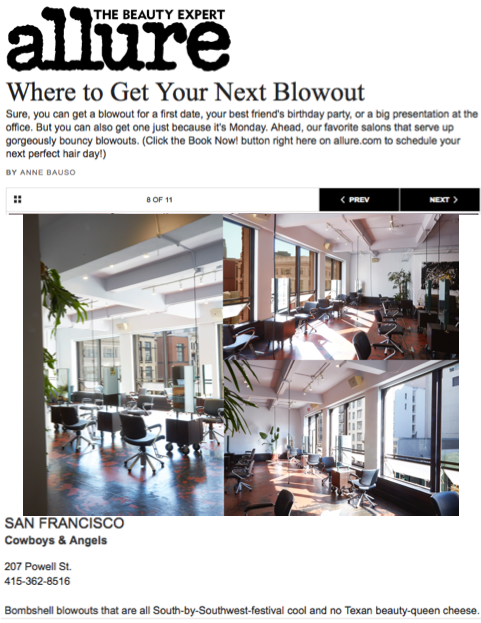 Allure | San Francisco Salon | Blow out