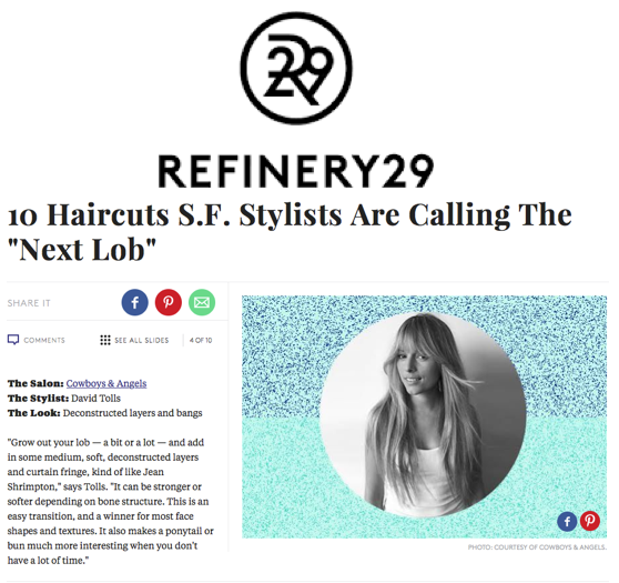 refinery 29 San Francisco Hair Salon