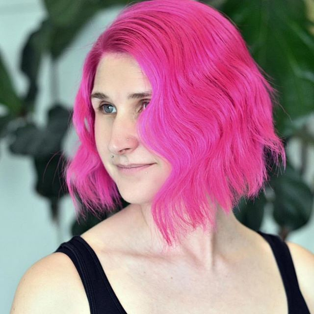 💕 Pink hair 💕by @haircolorsf cut/style  by @britshaircuts #cutstyle #cowboysandangelssf #sfcolor #sfsalon #sfhairsalon #oribe #randco #refinery29 #7x7 #hairbrained #allure #sfstyle #behindthechair #sfhair #bestofthebay #pinkhair #shorthair