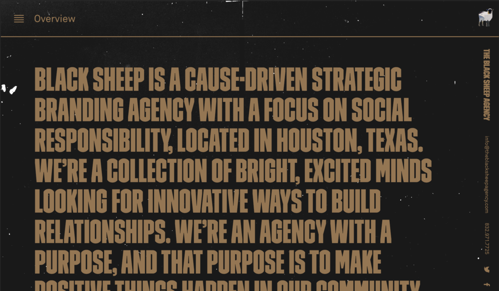 For the full experience with the design system and schema please visit The Black Sheep Agency website.