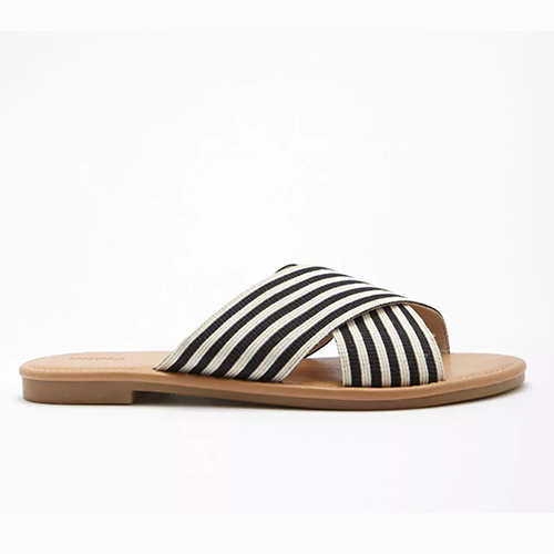 Striped Crisscross Slides