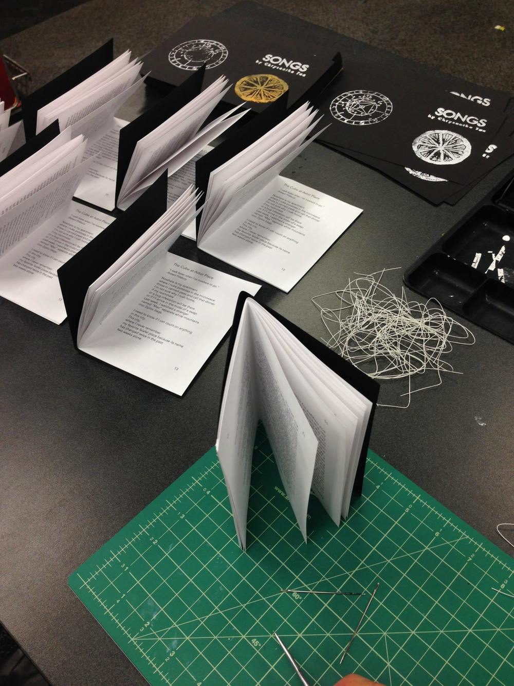 stitching the chapbooks