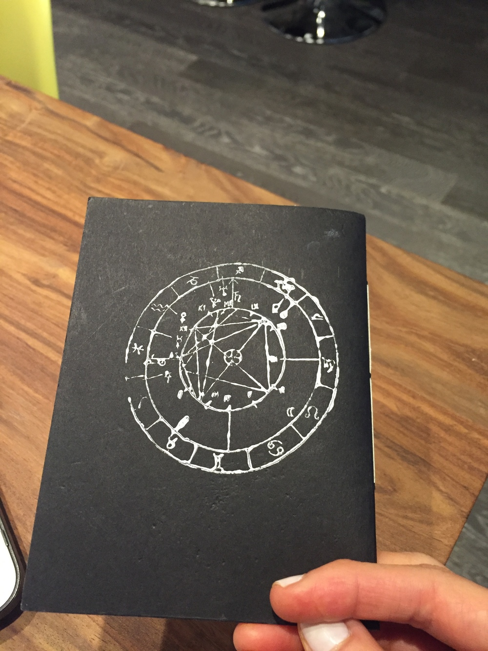 back astrological chart stamp