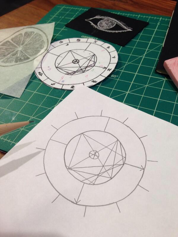 sketching chart stamp