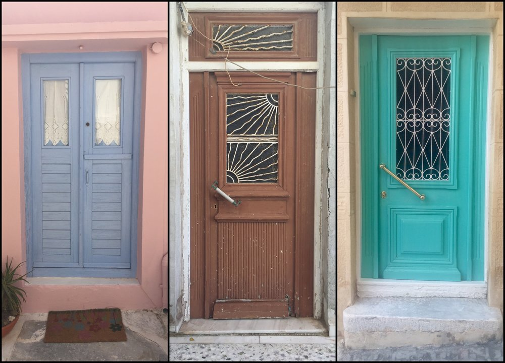 Doors in Ano Syros, Greece