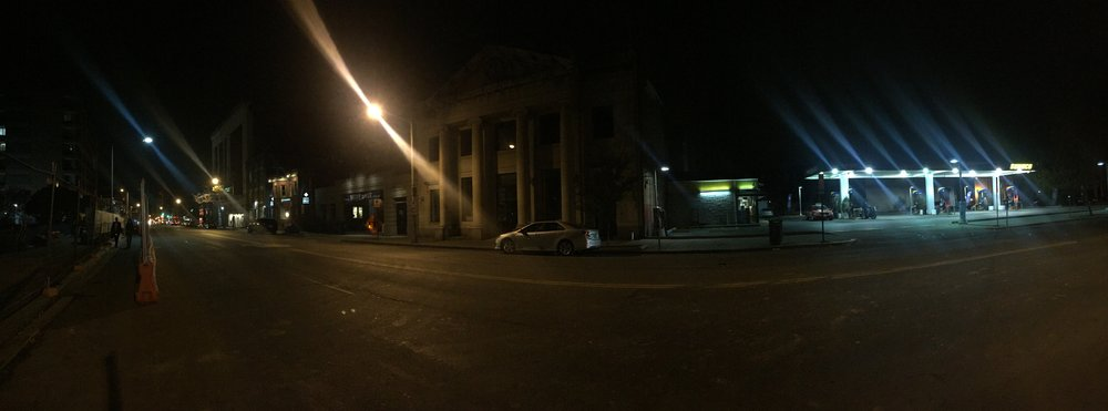 A very quiet U Street in Washington, DC on the night of the 2016 election.