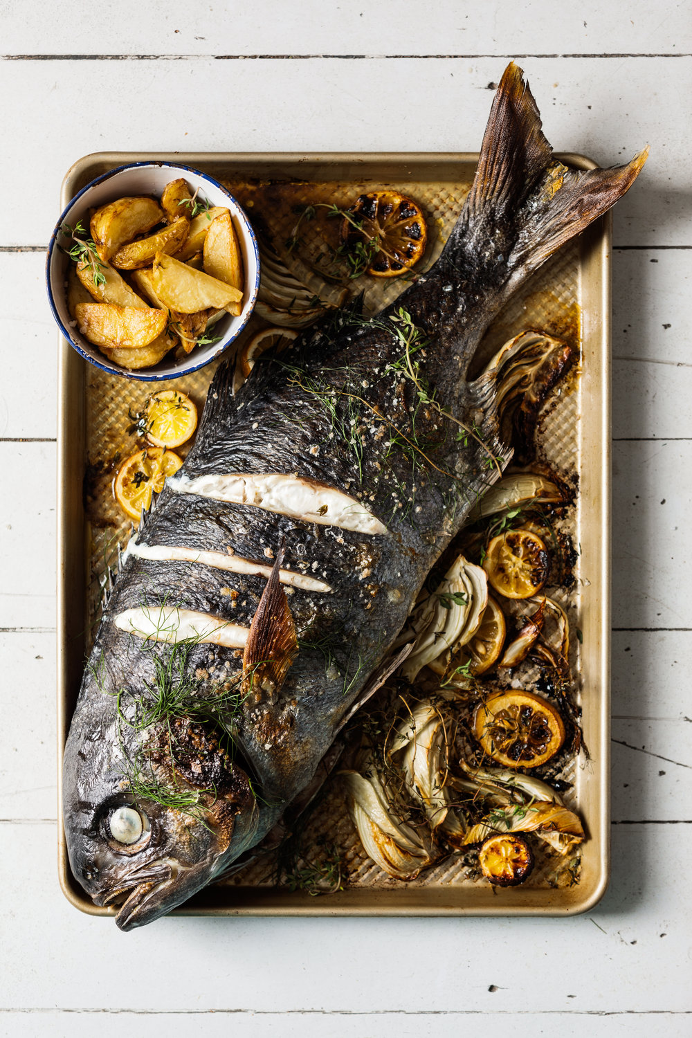 Whole Roast Fish with Smoked Salt & Fennel