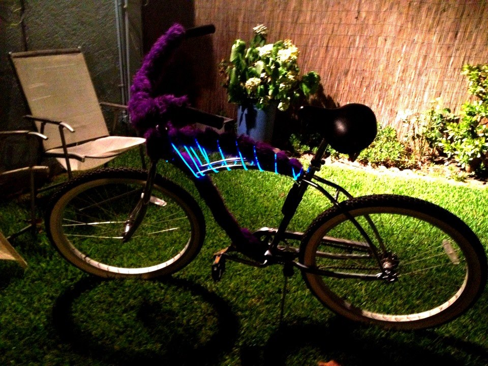 "My snazzy ""ridin'-around-town look at me"" bicycle."
