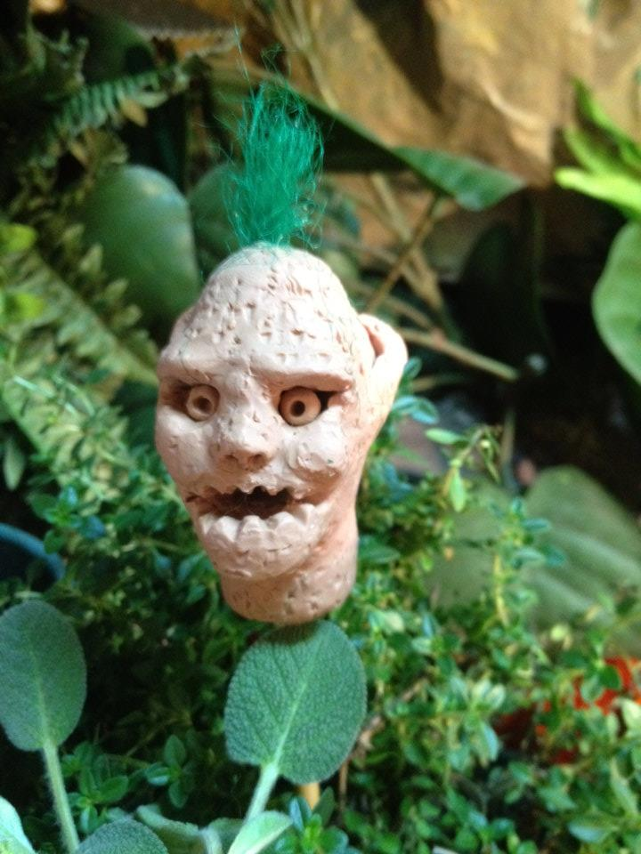 Rudimentary troll head.  Test material for a stop motion short film.