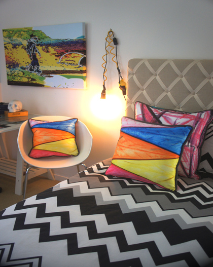Custom Crayon Art Cushions