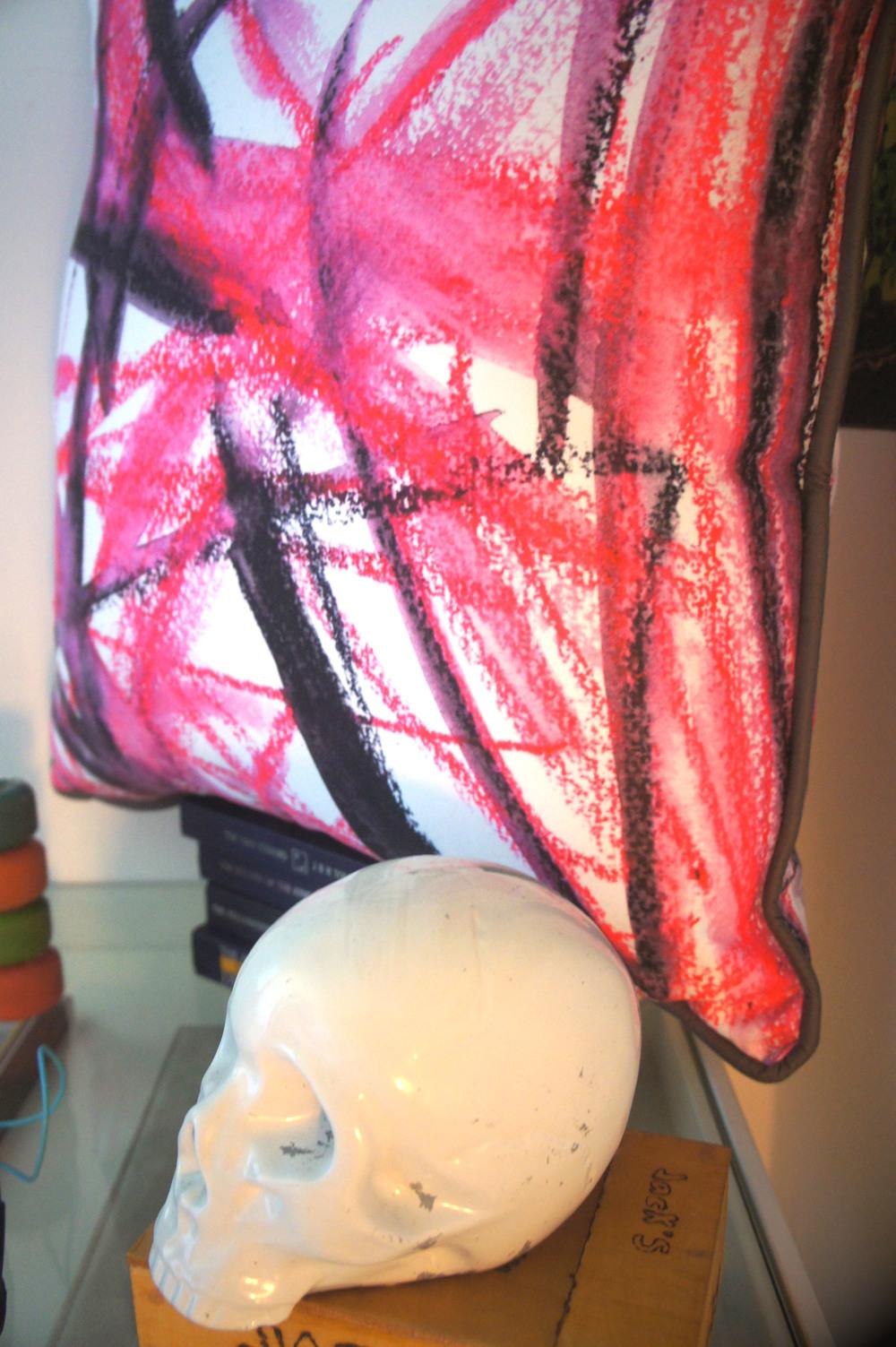 Custom Crayon Art Cushion