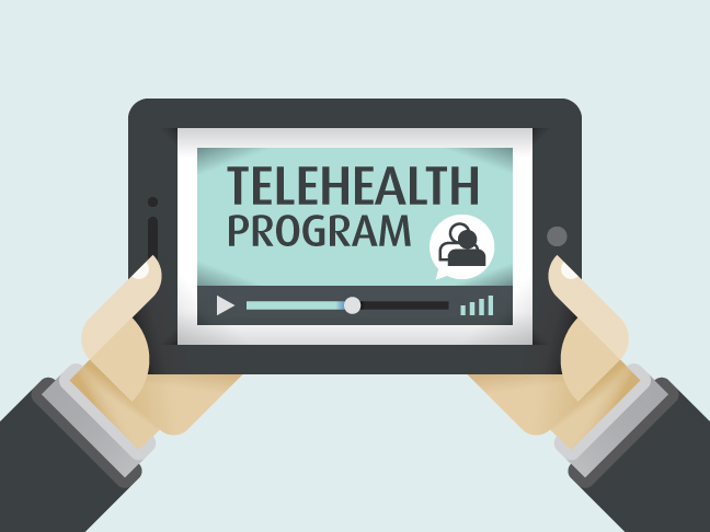 Room44 to design TELEHEALTH service face to face / video icon