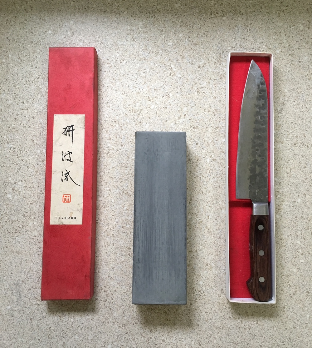 Oh, 7-inch Togiharu Hammered Texture Damascus Santoku, you so useful.