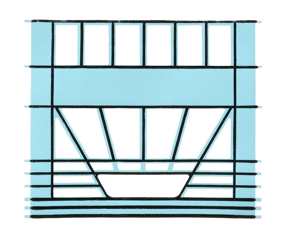Blue Milk Crate Print