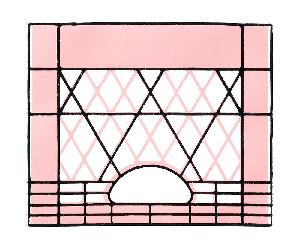 Pink Milk Crate Print