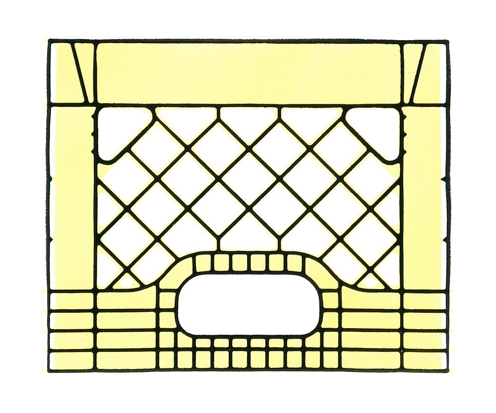 Yellow Milk Crate Print