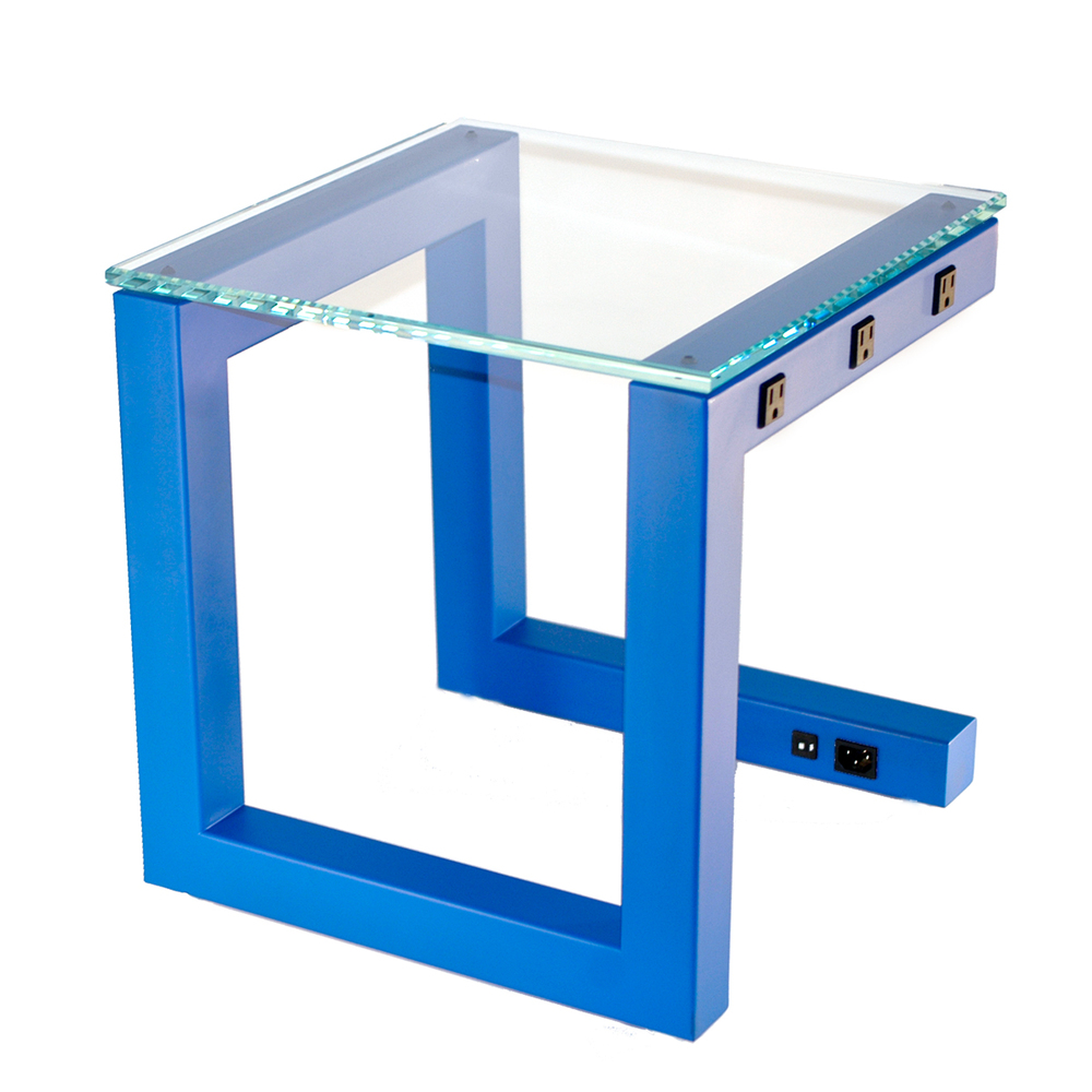 Side Wired Table - Blue