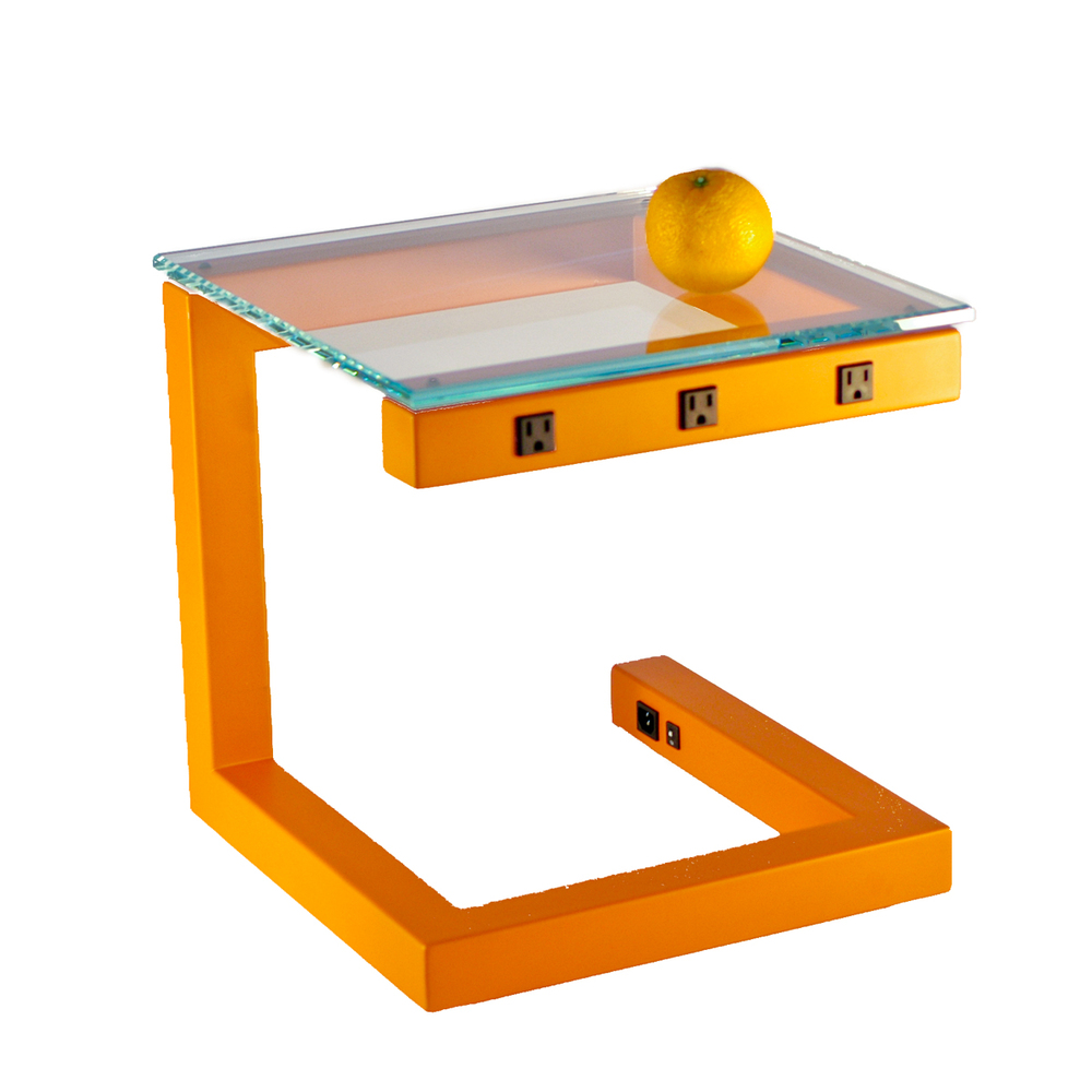 Side Wired Table - Orange