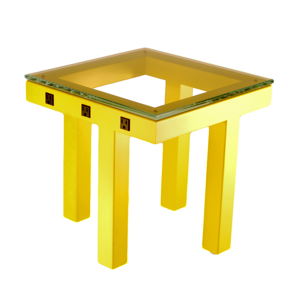 Side Wired Table - Yellow